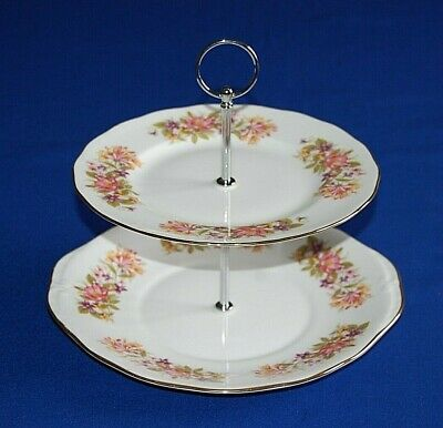 £10.99 • Buy Colclough Wayside Two Tier Cake Stand, Cake Plate. 1st Quality.