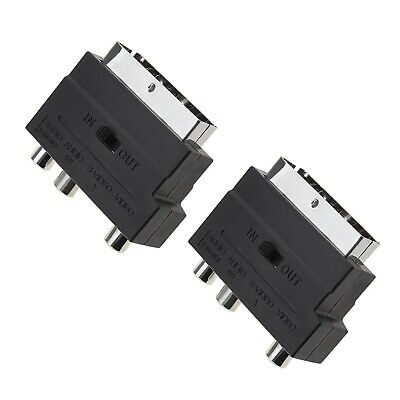 £6.07 • Buy 2pcs 21pin SCART Male To 3 RCA Female Phono Adapter With IN/OUT Switch Black