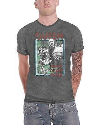 £14.95 • Buy Queen T Shirt News Of The World Band Logo Official Mens Charcoal Grey Burn Out
