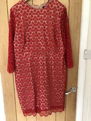 £6.99 • Buy Red Lace Gok Wan Dress