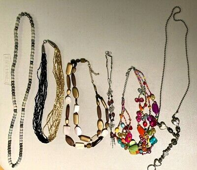 $ CDN16.35 • Buy Lot Of 6 Costume Jewelry Necklaces
