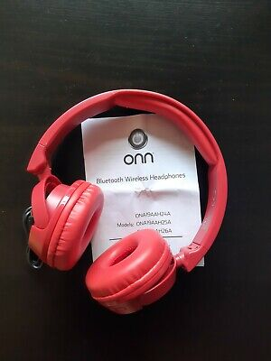 $ CDN10.37 • Buy ONN Wireless Bluetooth Headphones Red Over Ear With Charging Cable