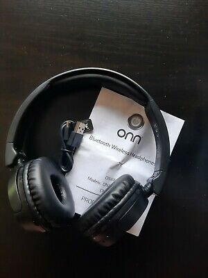 $ CDN10.37 • Buy ONN Wireless Bluetooth Headphones Over Ear With Charging Cable - Black