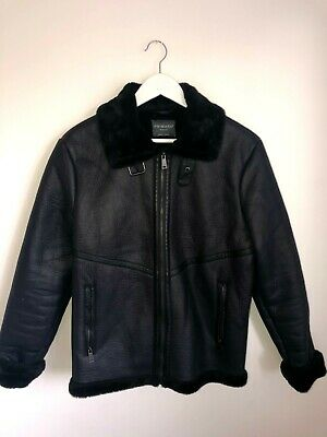 £18 • Buy Primark Faux Leather Jacket With Faux Fur Collar And Lining - Size Medium