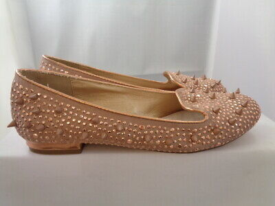 £9.99 • Buy Fab Firetrap Rock & Rag Spike Flat Shoes Rose Gold Size 4 Worn Once Excellent