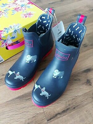 £44.95 • Buy Joules Pop On Printed Welly Clog Size 6 Adults 39 - Navy Dog 🐕