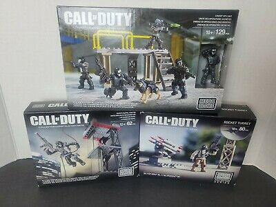 $49.99 • Buy Call Of Duty Mega Bloks Covert OPS Unit Ghost Rappel Fighter Rocket Turret NEW!