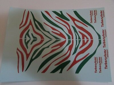 £4 • Buy 1/18 Scale Modified Tuning TIGER STRIPE RED & GREEN Decal