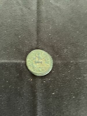 £1.20 • Buy Un Researched Roman Bronze Coin Nice Condition Man On A Horse