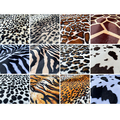 £1.69 • Buy Animal Print Velboa Faux Fur Super Soft Velour Fabric Craft Material | 60  Wide