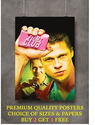 £5 • Buy Fight Club Classic Movie Large Poster Art Print Gift A0 A1 A2 A3 A4
