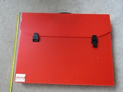 £3.99 • Buy A3 Size Portfolio Artwork Carry Case By Rotring In Red - 51x39x5cm