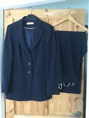 £29.99 • Buy Planet Navy Suit Pinstripe Jacket & Trousers Size 10 Excellent Quality