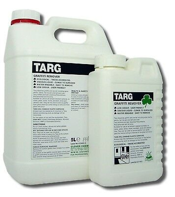 £15.50 • Buy TARG Graffiti Spray Paint Pen Ink Varnish Remover Water Washable 1 Or 5 Litre
