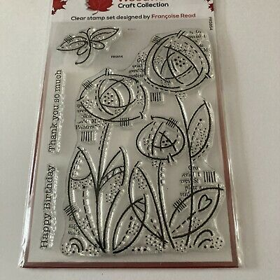 £2.60 • Buy Woodware Clear Singles Stamps Flower Bloom Francoise Read - Creative Expression