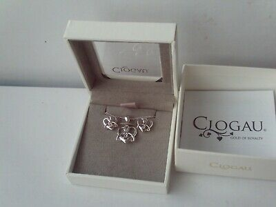 £160 • Buy Clogau Pendant Heart & Earrings Set Sterling Silver 9ct Welsh Rose Gold NEW