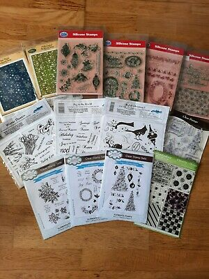 £5 • Buy BUNDLE OF 14 CHRISTMAS STAMP SETS Inc JUSTRITE, CREATIVE EXPRESSIONS, PINFLAIR