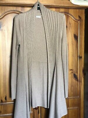 £4 • Buy Beige Ladies Marks And Spencer  Waterfall Longlength Cardigan Size 12