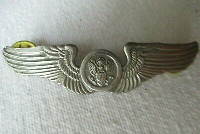 $4.99 • Buy Vintage US AIR CORPS Force Wings Pin Military Hat Uniform Medal Army Crew War
