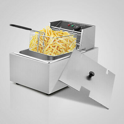 £30.99 • Buy 6.3QT/6L Commercial Deep Fryer Stainless Steel 2500W Food Frying Machine