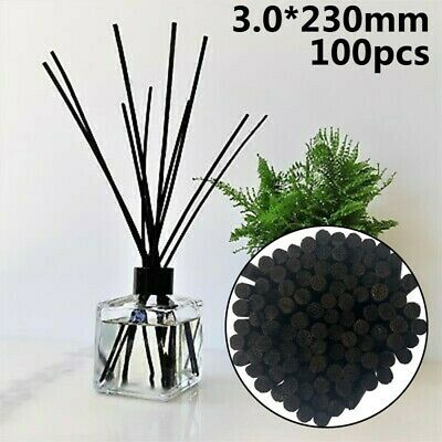 AU11.33 • Buy Natural Black Rattan Reed Essential Oil Replacement Diffuser Refill Sticks Pack