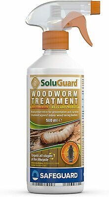 £10.74 • Buy SAFEGUARD Soluguard Woodworm Treatment Ready For High Strength Woodworm 500ml