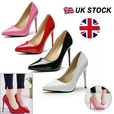 """£13.59 • Buy Womens Stiletto Fashion Pointed Toe High Heel Sexy Slip On Party Shoes 11CM/4.3"""""""