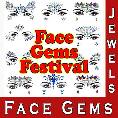 £2.99 • Buy Face Gems Jewels Crystals Party Adhesive Make Up Festival Rave Summer Body Art