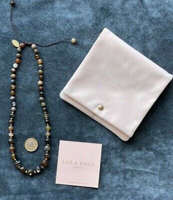 £17.99 • Buy LOLA ROSE Pretty Tigers Eye NECKLACE - Never Worn!