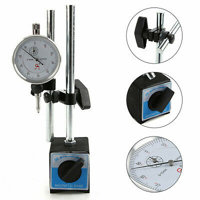 £17.99 • Buy Dial Indicator Test DTI Gauge 0-10mm With Double Pole Magnetic Base Stand
