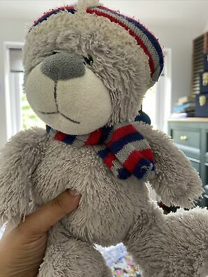 £3.99 • Buy Cuddles Collection Teddy Bear Grey Wooly Hat & Scarf