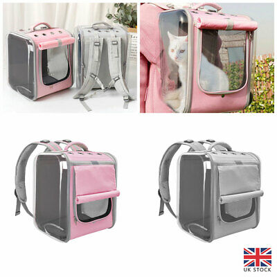 £25.30 • Buy Breathable Cat Carrier Backpack Pet Cats Small Dogs Outdoor Travel Carry Bag UK