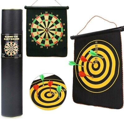 £11.99 • Buy 12''Dart Board Double Sided Dartboard Family Kids Childrens Game With Darts UK