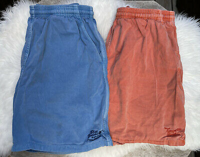 $54.99 • Buy 2 Pair Of CRAZY SHIRTS HAWAII PULL-ON SHORTS ORANGE & BLUE SIZE L