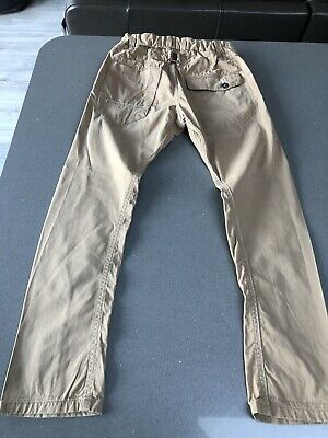 £2.20 • Buy Boys Next Skinny Twisted Carrot Chino Trousers Camel Colour Beige 9 Years Vgc