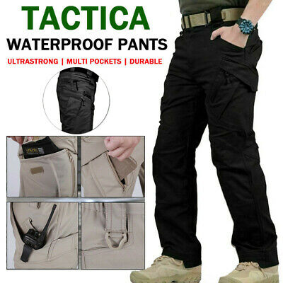 £15.87 • Buy Mens Outdoor Cargo Work Trousers Military Tactical Pants Combat Washable S-3XL