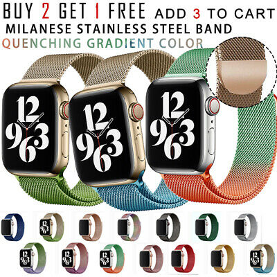 AU8.49 • Buy For Apple Watch Band Series 6 5 4 3 2 1 Iwatch Milanese Stainless Steel Strap