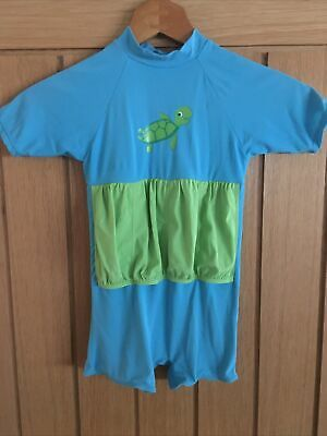 £2 • Buy Childrens Boys All In One Swin Suit - 2/3 Years - Turtle