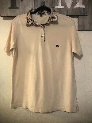 $49.99 • Buy Burberry Mens Vintage Accented Collar Polo T-Shirt Size 8, Large