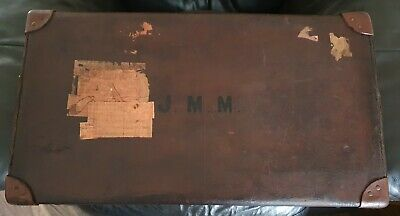 £20 • Buy Vintage Leather Suitcase Possibly Pre War