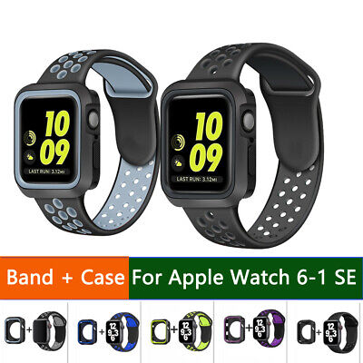 $ CDN6.26 • Buy For Apple Watch IWatch Series 6 SE 5 4 3 2 1 Strap Band Sport Case 38/40/42/44mm