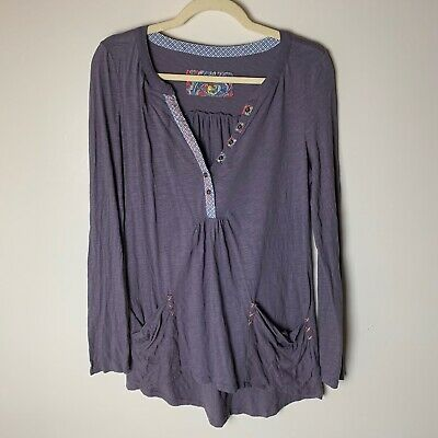 $ CDN27.37 • Buy Anthropologie Little Yellow Button Top Size Small Pockets Long Sleeves Stitching