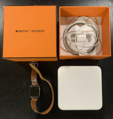 AU442.13 • Buy Hermes Apple Watch 38 Mm Series 2 COMPLETE IN BOX W/ Double Tour Band