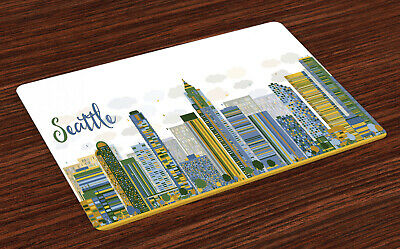 £14.99 • Buy Seattle Skyline Place Mats Set Of 4 Computer Graphics