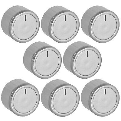 £10.95 • Buy Oven Knobs For AEG TRICITY BENDIX Control Dial + Adaptors Cooker Hob Silver X 8