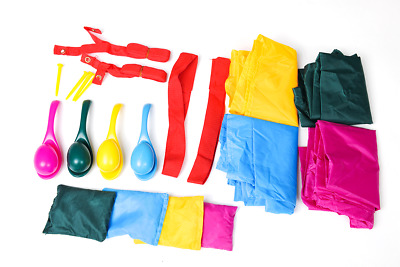 £14.95 • Buy 20 Pc Sports Day Egg & Spoon, 3 Legged, Sack Race And Bean Bags Set