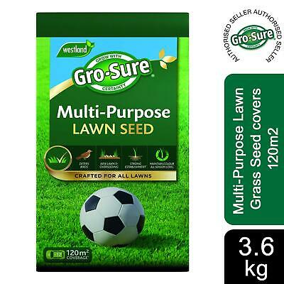 £28.99 • Buy Gro-Sure Multi-Purpose Lawn Grass Seed Covers 120m2, 3.6Kg