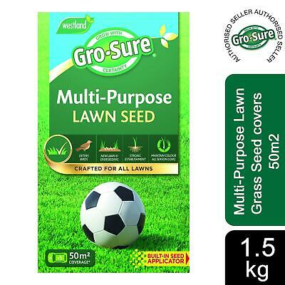 £19.49 • Buy Gro-Sure Multi-Purpose Lawn Grass Seed Covers 50m2, 1.5Kg
