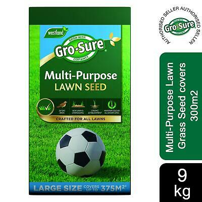 £58.99 • Buy Gro-Sure Multi-Purpose Lawn Grass Seed Covers 375m2, 9Kg
