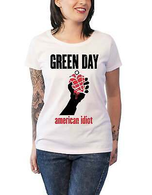 £18.95 • Buy Green Day T Shirt American Idiot Heart New Official Womens Skinny Fit White